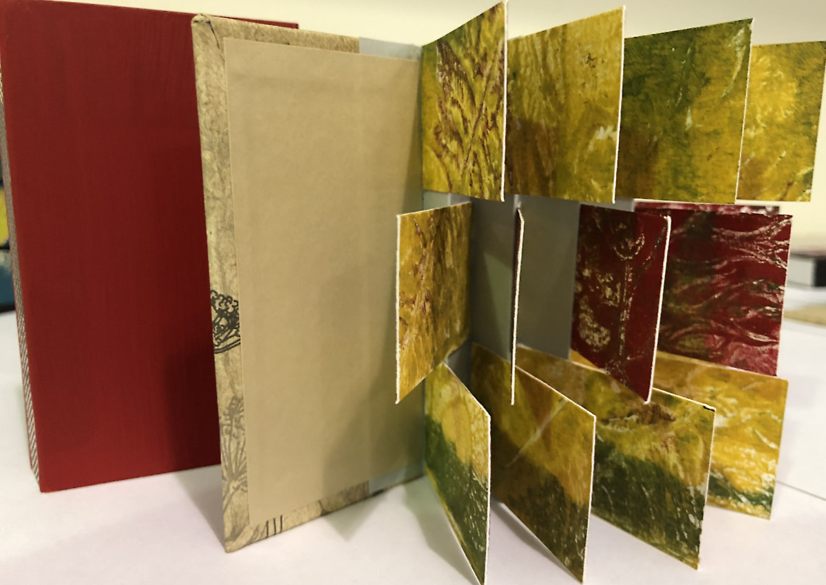 Monoprint/Flag Book workshop